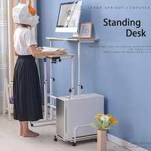Table d'ordinateur de levage bureau debout Mobile hauteur réglable enfants table support table d'ordinateur portable table de chevet mobile simple 80cm