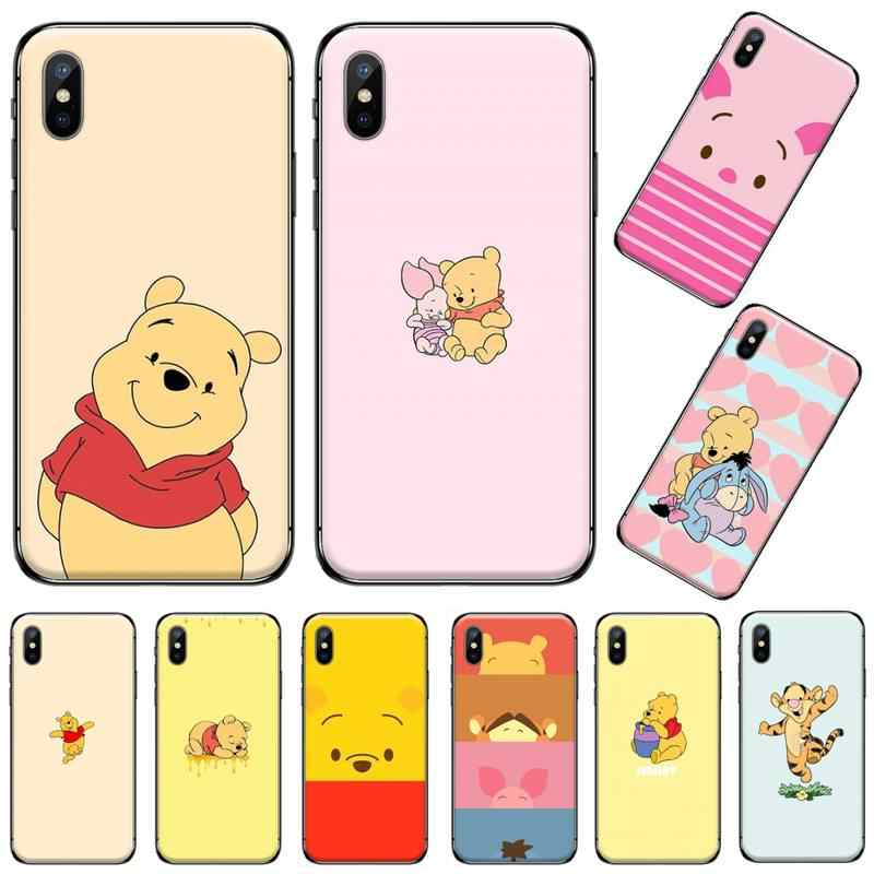 Animal Pooh Tiger Pooh Piggy Geschilderd Bling Phone Case Voor Iphone 5 5 5s 5c Se 6 6 S 7 8 Plus X Xs Xr 11 Pro Max