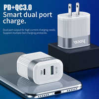 HOCO PD QC3.0 USB Fast Phone Charger 18W Quick Charge 3.0 EU US Plug Wall USB Charger Adapter Full Agreement for iPhone Samsung