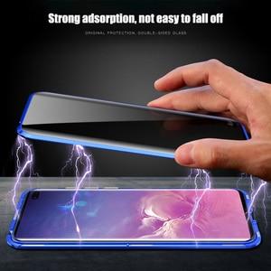 Image 3 - Anti peep magnética caso para samsung s8 s9 s10 plus vidro temperado caso para samsung note 8 9 couque 360 capa de proteção completa