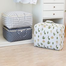 Large Quilt Storage Bags Dust-proof Moving House Bags With Zipper Handle For Clothes Bedding(China)