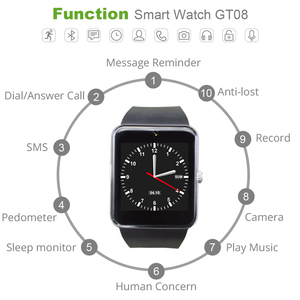 Image 2 - Smart Watch GT08 Clock Sync Notifier Support Sim TF Card Bluetooth Connectivity Android Phone Smartwatch Alloy Smartwatch