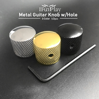 Профессиональный Металлический регулятор громкости для гитары, потенциометр, шапка, большие части для гитары, ручка с отверстием, аксессуары для гитары