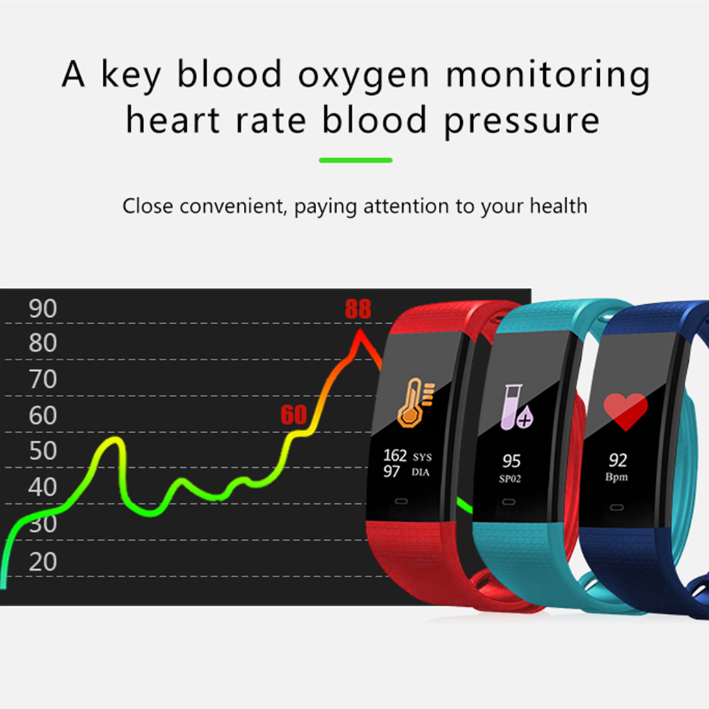 Smart Wristband Blood Pressure Monitor Oximeter Oxygen Heart Rate Band Bracelet Sports Fitness Tracker Watches sphygmomanometer 1