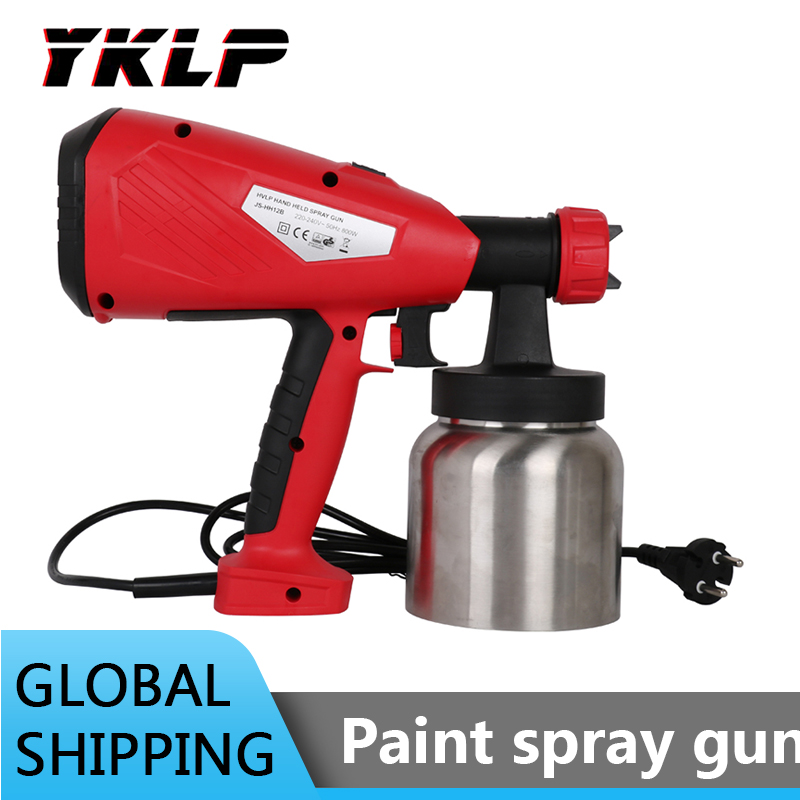 800W Electric Handheld Spray Gun Paint Sprayers High Power Home Electric Airbrush For Painting Car Furniture Wall Woodworking