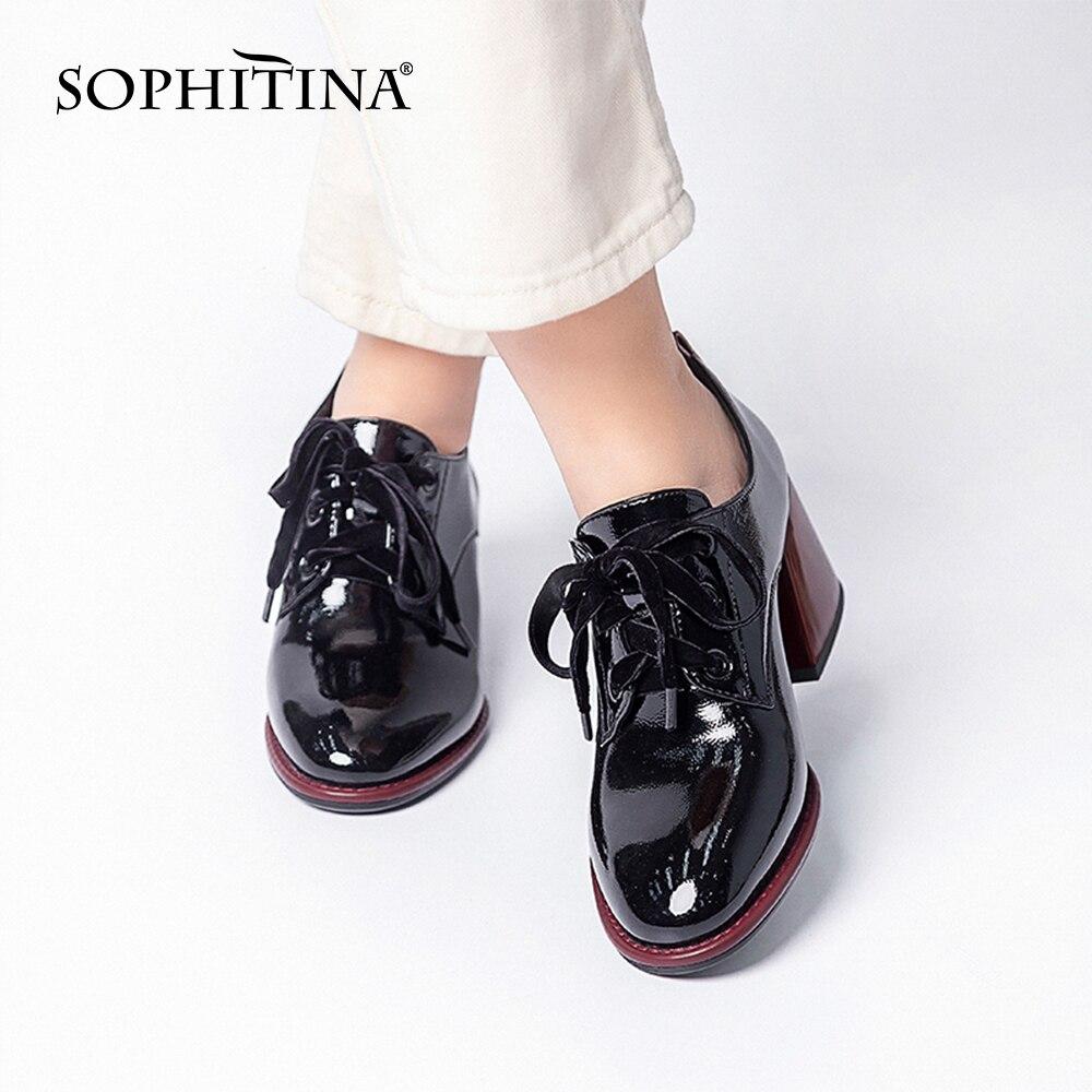 Купить женские туфли лодочки sophitina удобные офисные на шнуровке