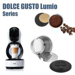Kapsułki do kawy wielokrotnego użytku ze stali nierdzewnej wielokrotnego użytku kapsułki do ekspresu do kawy z łyżeczką do DOLCE GUSTO LUMIO EDG