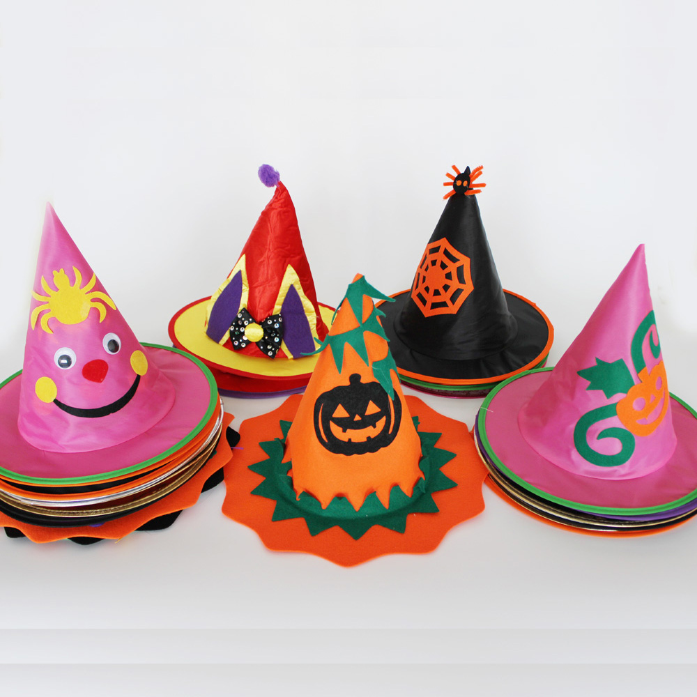 Halloween Children Witches Hat Fancy Dress Boys and girls Costume Accessories Hen party