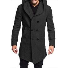 ZOGAA 2019 Fashion Mens Trench Coat Jacket Spring Autumn Men