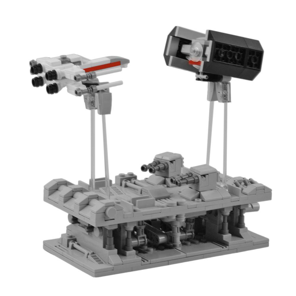 469 pièces MOC espace Wars manivelle X combattant TLE Bomber bataille petite particule bricolage bloc de construction tige jouet cadeau pour plus de 10