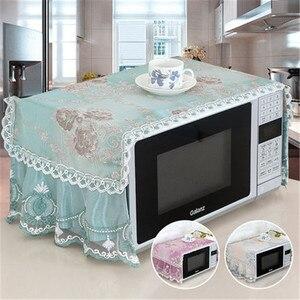 Image 4 - Capa para forno antipoeira, capa de algodão para decoração, com bolsa de armazenamento, pastoral, para cozinha e casa