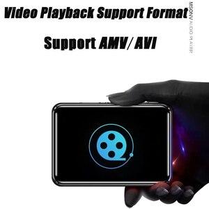 Image 4 - מיני ספורט נייד Bluetooth 5.0 MP3 נגן מתכת חזרה קליפ 1.8 אינץ HD מסך built רמקול באיכות גבוהה מוסיקה באיכות