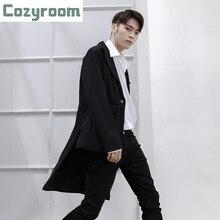 Jacket Blazers Men Spring Costumes Suits Irregular Japanese Black Korean Men's Plus-Size