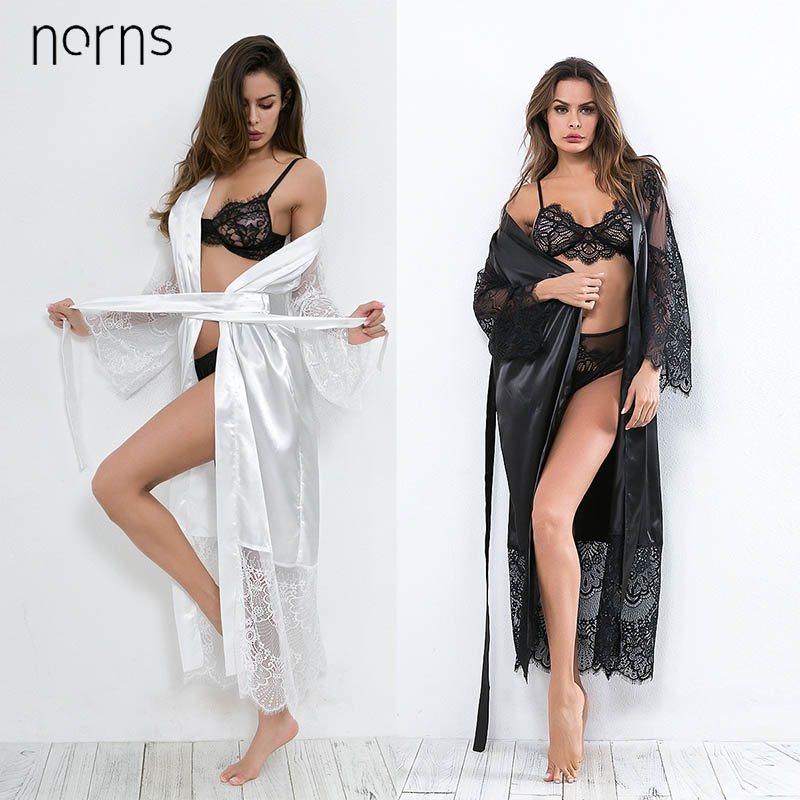 Norns Europe And America Plus Size Lace Lace Robe Europe And America Hot Sexy Lingerie Nightdress