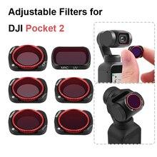 Pour DJI Poche 2 Cardan Filtre Dobjectif De Caméra Réglable ND Filtres CPL ND4 PL ND8 PL ND16 PL ND32 PL Filtre Kit Accessoire
