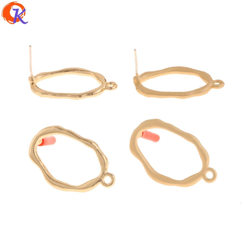 Cordial Design 100Pcs 16*27MM Jewelry Accessories/Hand Made/Earrings Stud/Irregular Shape/DIY Jewlry Making/Earring Findings