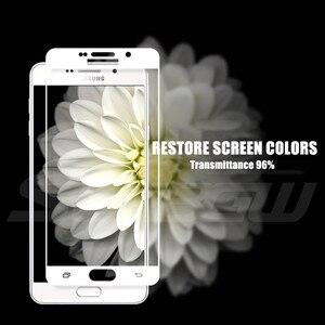 Image 5 - 9D tam kapak koruyucu cam üzerinde Samsung Galaxy A3 A5 A7 J3 J5 J7 2016 2017 S7 temperli ekran koruyucu cam filmi