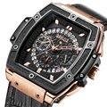 Baogela роскошные часы с хронографом для мужчин кожаный ремешок водонепроницаемые кварцевые часы мужские топ брендовые наручные часы Relogios ...
