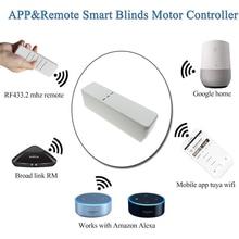 WiFi Roller Shade Driver DIY Roller Shutter Motor Tuya/Smart Life APP Voice Control Work with Alexa Google Assistant