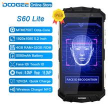 DOOGEE S60 Lite IP68 wody 5580mAh ładowanie Wireless 12V2A szybkie ładowanie 5 2 #8221 FHD MT6750T Octa Core 4GB 32GB smartfon 16 0MP Cam tanie tanio S60 Lite 4 GB 32 GB Nie odpinany Nowy Android Rozpoznawania linii papilarnych Do 120 godzin 16MP Adaptacyjne szybkie ładowanie