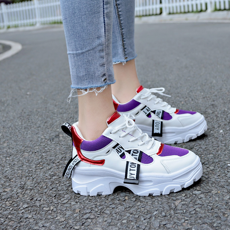 <font><b>Women's</b></font> Sneakers Platform Chunky Dad Footwear Thick Anti-slip Sole Fashion <font><b>Shoes</b></font> for <font><b>Women</b></font> Sport <font><b>Shoes</b></font> Tenis Feminino <font><b>Womens</b></font> image