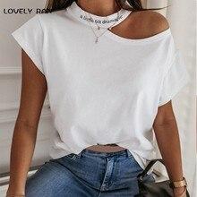 100% bawełniane koszulki damskie Y2K Letter Print dramatyczna zimna koszulka na ramię z krótkim rękawem O-Neck Girl letnia koszulka casualowe w stylu Streetwear