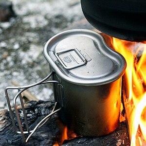 Image 4 - Keith Titanium 1100ml czajnik sportowy i 700ml tytanowe pudełko na Lunch Camping armia butelki na wodę kuchenka na wodę Ultralight Ti3060