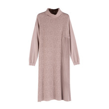 2020 women2020 Long section high collar knit dress 's autumn