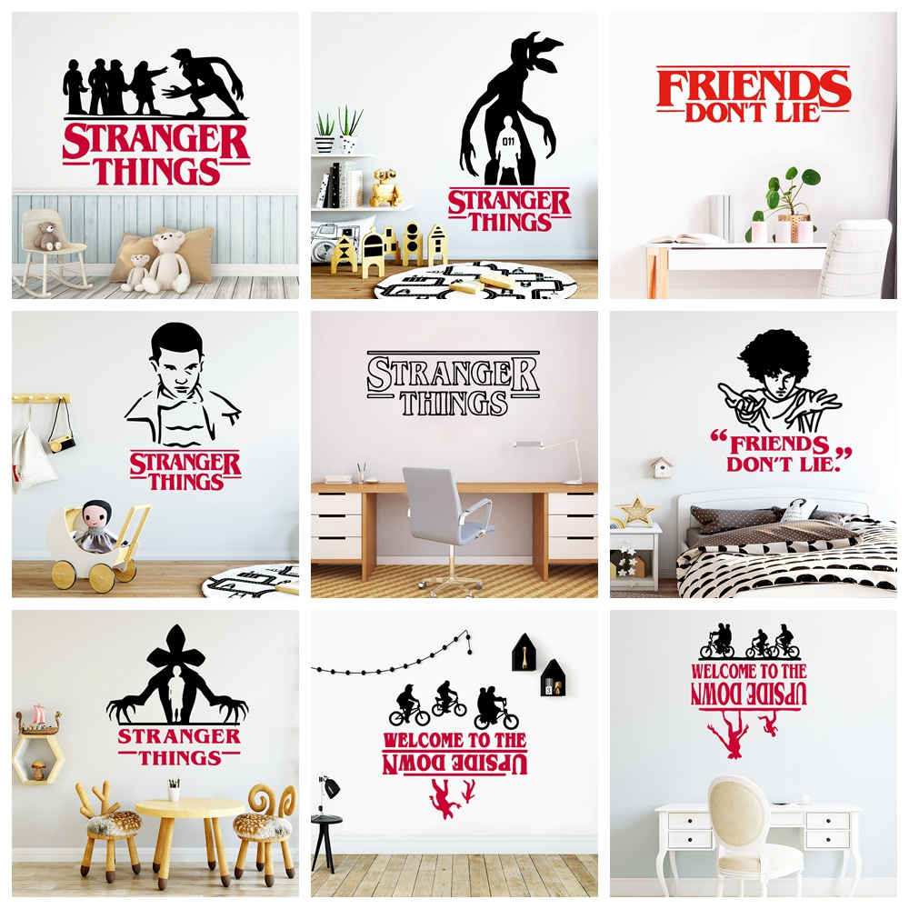 Lovely Stranger Sticker Things Vinyl Wall Stickers For Kids Room Decor Decals Pvc Baby Wallpaper Poster Mural