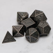 Metal Dnd Dice Sets Dungeons And Dragon D&D MTG RPG Polyhedral Role Playing Black Dice Gift 7PCS D20 D12 D10 D8 D6 D4