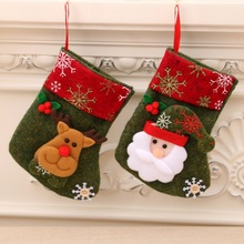 Christmas Stockings Candy Gifts Holder Bag Xmas Tree Hanging stocking Fireplace  Ornament Decorations for