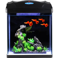 Small Glass Fish Tank Ecological Desktop aquarium Children Square Lazy Fish Tank Free Water Filter aeration