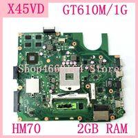 X45VD HM70 GT610M/1G N13M-GE6-S-A1  ASUS X45V X45VD 노트북 마더 보드 용 2GB RAM 메인 보드 60-NROMB1101-C05 100% 테스트 됨