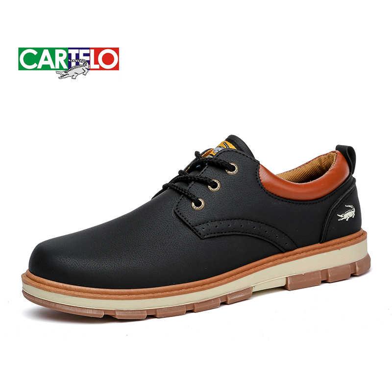 CARTELO Casual Männer Schuhe der Männer der Sport Low-top Schuhe männer Koreanische Spitze-Up Werkzeug Martin herren Stiefel Schwarz
