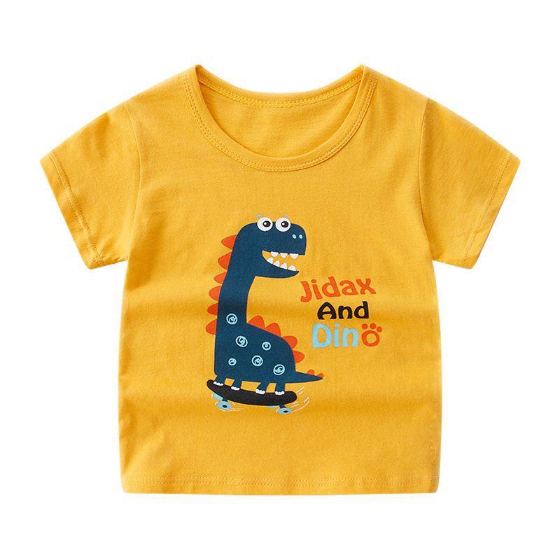 Summer Children's Clothing Cartoon Popular Style Boy Cotton Short Sleeve T-shirt Children And Girls T-shirt Boy's Top