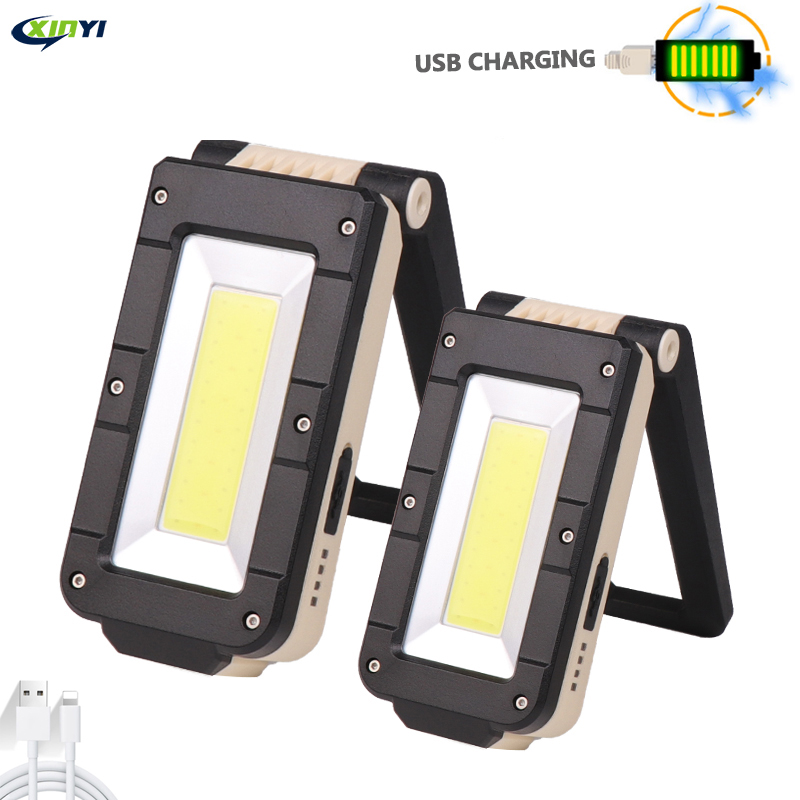 Portable 4-Mode COB+xpe Flashlight Torch USB Rechargeable LED Work Light Magnetic Lanterna Hanging Hook Lamp For Outdoor Camping