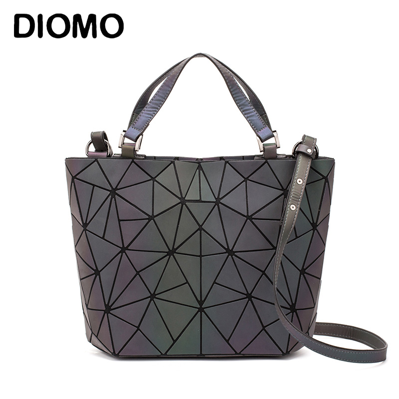 DIOMO Sac A Main Femme Luxury Luminous Geometric Bag 2019 Ladies Hand Bag And Messenger Bag Women Fashion Bucket Bag Female