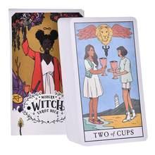 78pcs 현대 마녀 타로 데크 오라클 카드 안내 운세 운명 타로 카드 보드 게임 가족 키즈 성인 파티 게임