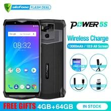 """Ulefone الطاقة 5s 13000mAh الهاتف المحمول الروبوت 8.1 6.0 """"FHD MTK6763 الثماني النواة 4GB + 64GB 21MP ID الوجه اللاسلكية تهمة الهاتف الذكي"""