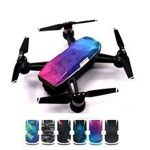 6 kolory (6 sztuk/partia) wodoodporna Drone ochronne pcv skórzany pokrowiec naklejki dla DJI Spark kamera drona ciała skóry akcesoria do kalkomanii