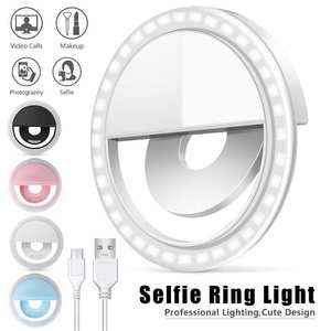 Flash-Light Camera Phone-Selfie-Lamp Led-Ring Videos Mobile Photography for Focus Luminous-Clamp