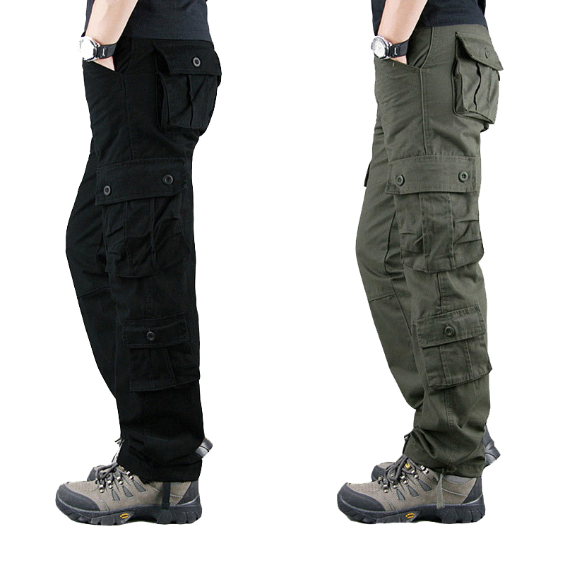 Multi Pockets Military Tactical Pants Overalls Men Cargo Pants Casual Pantalon Hombre Sweatpants Straight Long Trousers 29-55