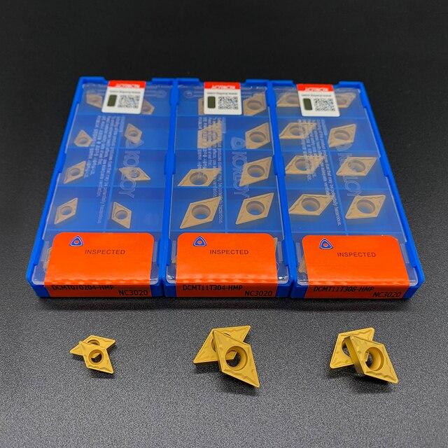 Lama Originale DCMT070204 DCMT11T304 DCMT11T308 HMP NC3020 di Alta Qualità Strumento Tornitura Interna Inserto In Metallo Duro Per Acciaio Inox