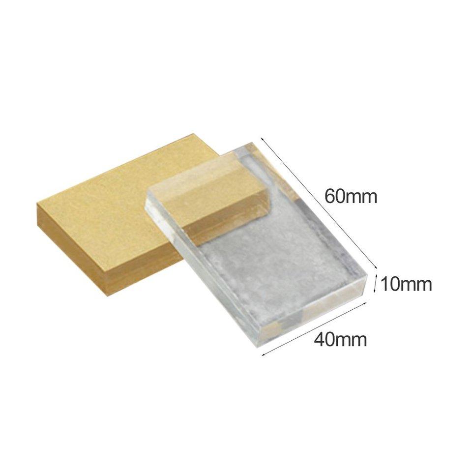 Jasnyfall Lightweight Transparent Acrylic Stamp Block Rectangular Shape DIY Scrapbooking Color Process Stamp Block Tools transparent