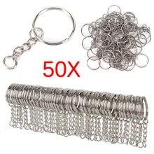 Silber Überzogene Metall Blank Schlüsselring Split Ring Keyfob Key Halter Ringe Frauen Männer DIY Schlüssel Ketten Zubehör