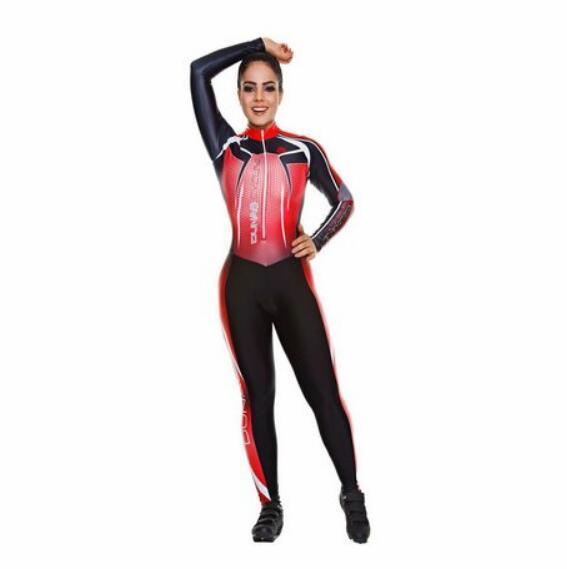 2019 pro equipe triathlon terno feminino ciclismo manga longa camisa skinsuit macacão maillot ciclismo ropa ciclismo conjunto gel 3