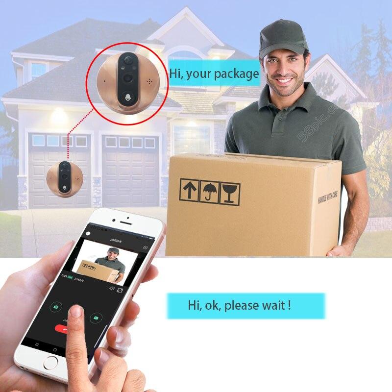 Image 2 - Topvico Wifi Doorbell Camera Video Peephole Door Intercoms 4.3 Inch Motion Detection Wireless Door Viewer Video eye Smart Ring-in Doorbell from Security & Protection