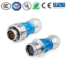 Waterproof connector male plug female plug DH-24 10pin powercon/automotive/led lamp/solar /electronics connector semi-metal