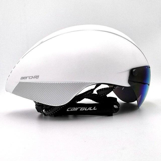 Cairbull capacete de segurança para ciclismo, capacete de segurança branco para andar de bicicleta na estrada, aero, ciclismo de corrida 1