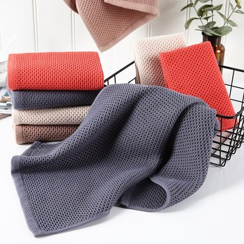 100% Cotton Hand Towels Size about 34x34/73x34cm Plaid Hand Towel Face Care Magic Bathroom Sport Household Non-disposable Towel image